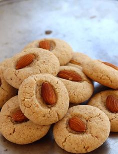 Healthy Almond Cookies - Kids Special Eggless Almond Flour and Whole Wheat Flour Indian Style Crispy and Buttery Cookies/ Biscuits - Quick and Easy Recipe with Step by Step Photos