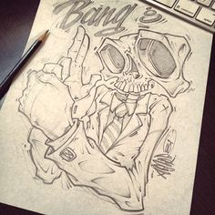 LUNCH SCRIBBLES 3 by Absorb81 - Craig Patterson, via Behance: