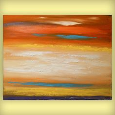 art painting art abstract landscape cloudscape by mattsart on Etsy, $249.00