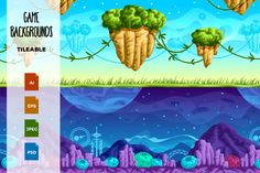 Game Backgrounds by Yulia on Creative Market