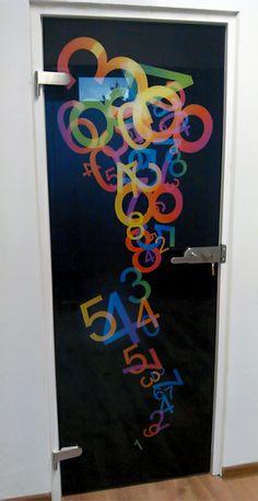 Grafické sklo sklenené dvere