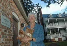 Nat Baggett, a lifetime member of the New Bern Preservation Foundation and a longtime member and volunteer for the New Bern Historical Society, brings two stuffed bears among a box of items for the historical group's annual ABC Sale next spring to the Attmore-Oliver House.