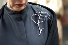 Michele Oka Doner ,wearing her own hand made brooch __ on An Unknown Quantity