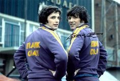 July 1974. Leeds United's Gray brothers, Frankie and Eddie outside Elland Road.