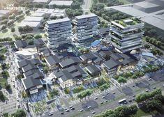 Commercial Complex, Commercial Street, Hotel Architecture, Landscape Architecture, Eco City, Supermarket Design, Mall Design, Shopping Street, Facade Design