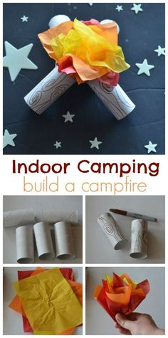 There is something about camping that is just so much fun. We've brought all that goodness inside with our indoor camping party! Camping Party Activities, Camping Party Decorations, Camping Games Kids, Camping Parties, Campfire Birthday Parties, Family Camping, Kid Activities, Birthday Fun, Camping Themed Party