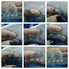This Pin was discovered by İBR Needlework, Bracelets, Instagram Posts, Earrings, Jewelry, Ideas, Fashion, Embroidery, Ear Rings