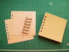 Blog studio75.pl: Notes bindowany schowaną sprężyną