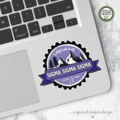 Sigma Sigma Sigma Tri Sigma Small Badge by ExquisitePaperDesign