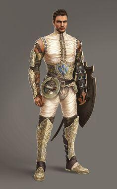 Male warrior by atomhawk character art in 2019 дизайн персонажей, концепция