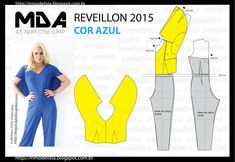 ModelistA: A3 NUMo 0156 DRESS - REVEILLON COR AZUL