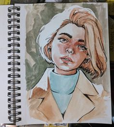 Trying out new pensss . sketch sketchbook drawing portrait… Trying out new pensss . sketch sketchbook drawing portrait watercolor See it Art Inspo, Art Du Croquis, L'art Du Portrait, Self Portrait Drawing, Drawing Portraits, Watercolor Portraits, How To Draw Portraits, Watercolor Art Paintings, Portrait Sketches