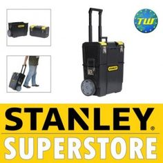 Stanley Tools 2-in-1 Mobile Work Centre Toolbox System 1-70-327