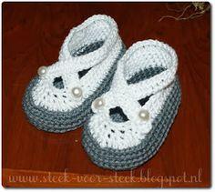 Steek voor steek: patroontje babyschoentjes
