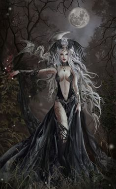 I am an attractive spell caster wandering through the woods at night. With a dragonling. Fear me... and stuff. ----------------------------------------- Queen of Havoc Nene Thomas