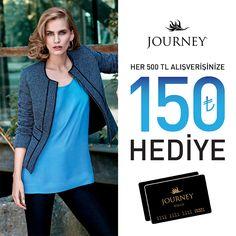 Journey Card Sahip'lerine özel 150 TL Hediye Parapuan! Keyifli alışverişler! Journey, #ACityAVM 1. Katta.