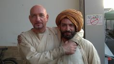 Sir Ben Kingsley und Erwin Lennartz am Set für den Kinofilm der Medicus