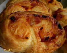 roski-cocina y algo mas-yus: Palmeras Crujientes de Jamón, Chorizo y Azúcar