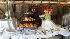 Buffet at barn