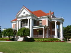 The Frank Phillips Historic Home in Bartlesville, OK. Oilman Frank Phillips moved to Bartlesville