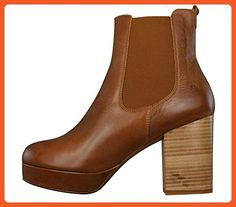 67 Laleh Volevo Womens Leather Ankle Boots - Chesnut