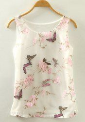 SHARE & Get it FREE | Sweet Butterfly Print Scoop Neck Tank Top For WomenFor Fashion Lovers only:80,000+ Items • New Arrivals Daily • Affordable Casual to Chic for Every Occasion Join Sammydress: Get YOUR $50 NOW!