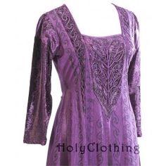 Morgna Medieval Velvet Satin & Lace Tudor Princess Dress Gown ... Holy Clothing