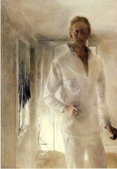 Self portrait by Andrew Wyeth, 1949