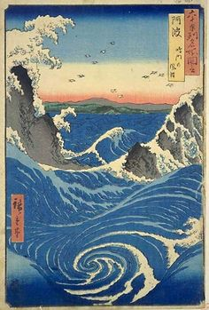 HIROSHIGE  Rough Sea at Naruto in Awa Province
