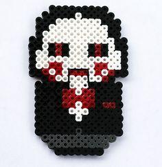 Billy the Puppet Saw perler beads by ThePlayfulPerler on deviantart