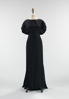 """""""Jolanthe"""" Elizabeth Hawes (American, 1903–1971) Date: fall/winter 1932 Culture: American Medium: silk Dimensions: Length at CB (a): 46 in. (116.8 cm) Length at CB (b): 35 1/2 in. (90.2 cm) Credit Line: Brooklyn Museum Costume Collection at The Metropolitan Museum of Art, Gift of the Brooklyn Museum, 2009; Gift of the estate of Elinor S. Gimbel, 1984 Accession Number: 2009.300.1013"""