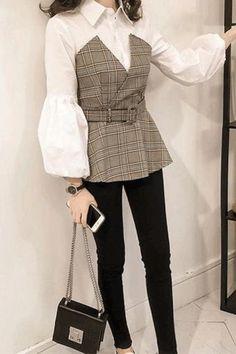 Look Fashion, Hijab Fashion, Korean Fashion, Girl Fashion, Fashion Dresses, Cute Casual Outfits, Stylish Outfits, Stylish Dresses For Girls, Mini Dress With Sleeves