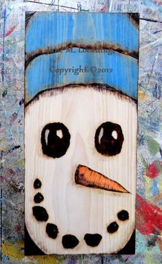 $30.00 + FREE SHIPPING - My Snowman decoration is for sale once again! Snowman Door Decorations - Snowman Decoration - Snowman Home Decor - Copyright © 2013 Jane Loedding Art