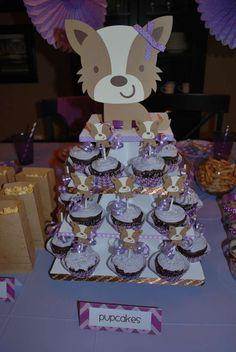 Purple Puppy Pajama Paw-ty | CatchMyParty.com