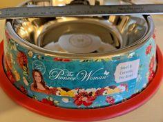 NEW! PIONEER WOMAN 9 INCH STEEL & CERAMIC PET FOOD DISH ~ VINTAGE FLORAL ~ VHTF! #ThePioneerWoman The Pioneer Woman, Pioneer Women, Pet Food, Ceramic Bowls, Vintage Floral, Coffee Cans, Food Dishes, I Shop, Ceramics
