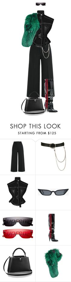 """""""Sans titre #298"""" by divinenk ❤ liked on Polyvore featuring Jil Sander, Wet Seal, Louis Vuitton, Alchimia Di Ballin and Lilly e Violetta"""