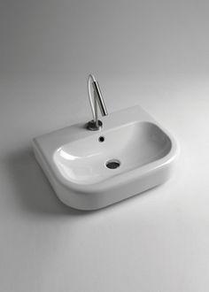 eclissi lavabo da appoggio o sospeso 50x50 c/fr #arredamento ... - Progress Arredo Bagno