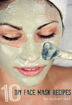 10 AMAZING Homemade Face Mask Recipes!  I love using DIY natural hair and skin products. #OvernightAcneBeautyTips Homemade Facial Mask, Homemade Facials, Natural Beauty Tips, Natural Hair Styles, Beauty Care, Beauty Hacks, Diy Beauty, Beauty Skin, Beauty Guide
