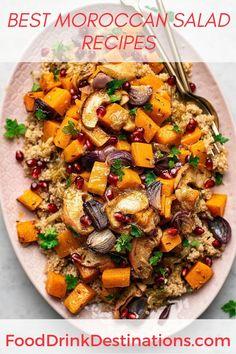 Morrocan Food, Moroccan Salad, Moroccan Dishes, Moroccan Food Recipes, Veggie Dishes, Vegetable Recipes, Vegetarian Recipes, Healthy Recipes, Side Dishes