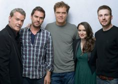 Winona Ryder, Ray Liotta, Chris Evans, Michael Shannon and Ariel Vromen at event of The Iceman