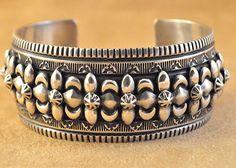 Handmade cuff bracelet, by Navajo artist Darryl Becenti.