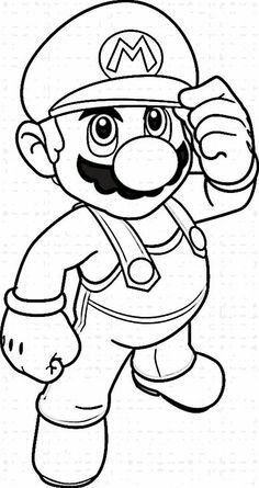 Mario Bross Coloring Pages 1
