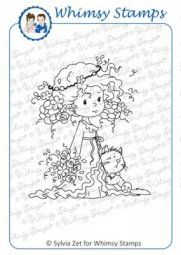 Whimsy Stamps - Rose and Felix - Rubber Stamp