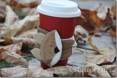 Free pattern: Fox coffee sleeve