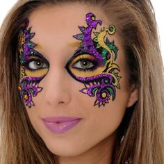 Mardi Gras face painting ideas