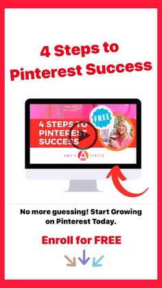 Learn how to use Pinterest and grow fast on with this amazing FREE course by Amy Locurto a DIY blogger and influencer. Learn her secrets for setting up Pinterest for success and mega traffic to your website! No more guessing with 4 simple steps.