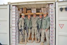 """Thanks to the generosity of NCSECU's fundraising efforts, including donations from North Wilkesboro Women's Club, Honda, Operation North State """"Peace on Earth - Because of You!"""", AdoptaPlatoon Soldier Support, members of 875th Engineer company in Afghanistan received Christmas gift boxes this month, and over 4,500 pieces of mail since July."""