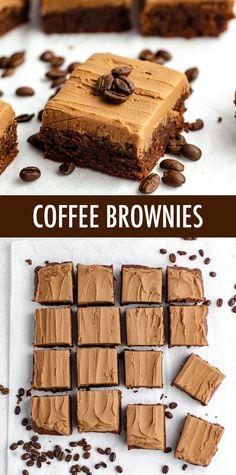 No Bake Desserts, Just Desserts, Delicious Desserts, Dessert Recipes, Yummy Food, Coffee Dessert, Dessert Bars, Coffee Drinks, Coffee Coffee