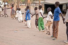 Refugee children play together in a child friendly space created by LWF in a #refugee camp in Maban, South Sudan. © LWF/Melany Markham