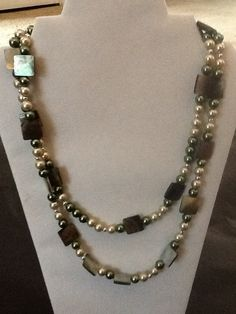 Hey, I found this really awesome Etsy listing at https://www.etsy.com/listing/191491427/opal-and-green-pearl-necklace